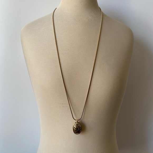 Scarab beetle necklace from Banana Republic